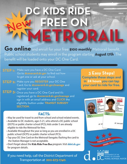 DC Students Ride the Metro for Free!!!