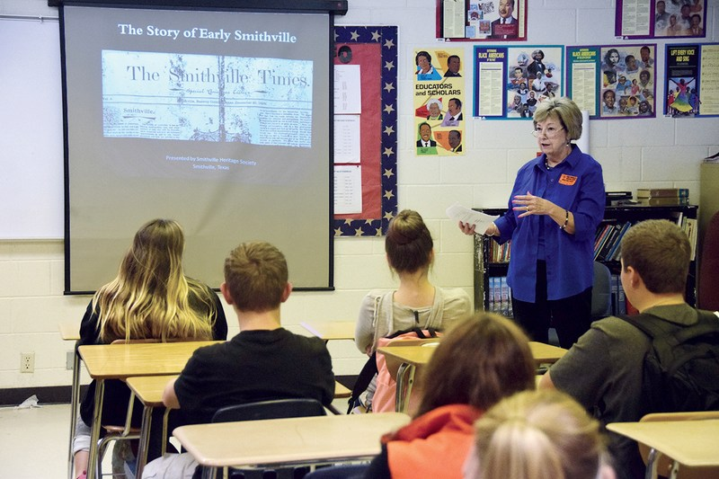 Smithville Heritage Society Speaks to Students