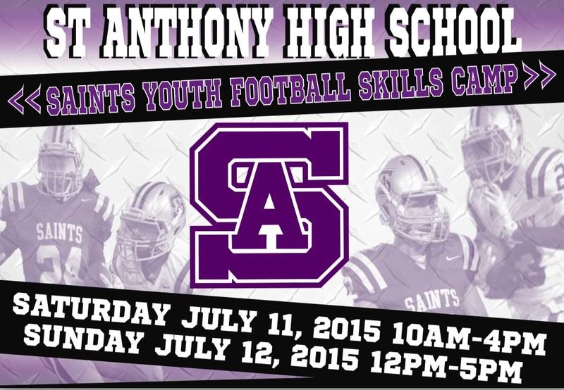SAHS to Host Youth Football Camp