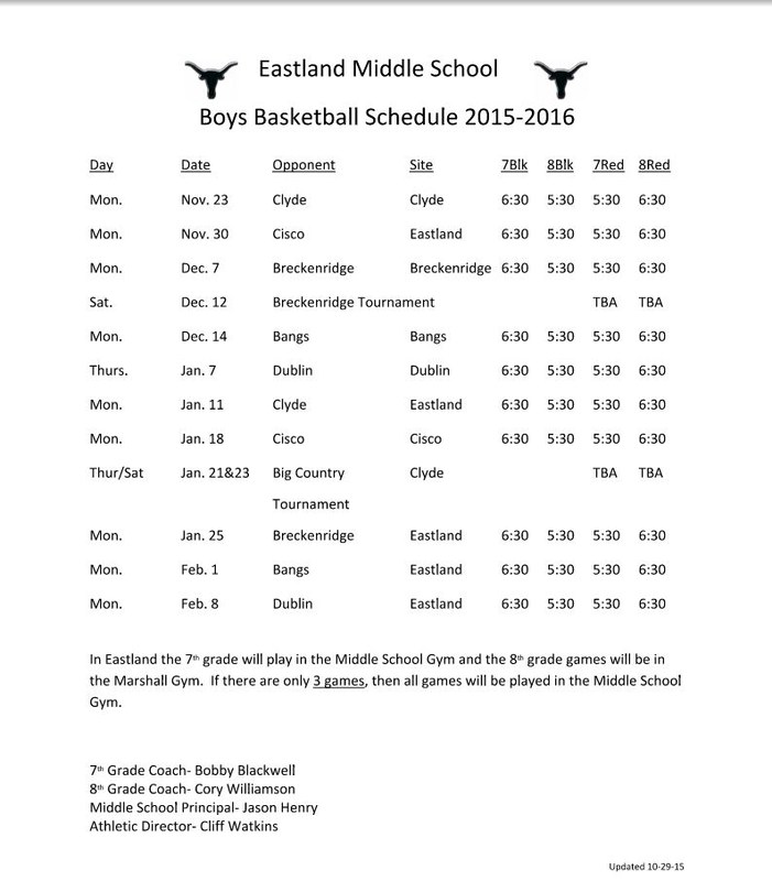 EMS BOYS BASKETBALL SCHEDULE 2015-2016
