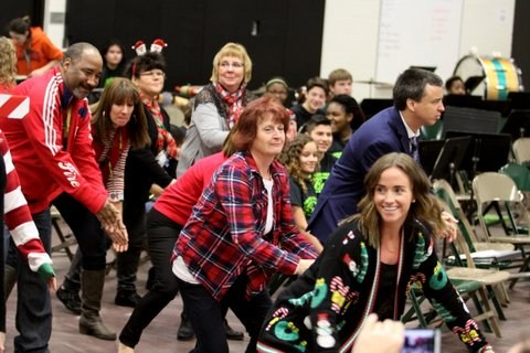 Central Middle School: Staff Flash Mob Video Thumbnail Image