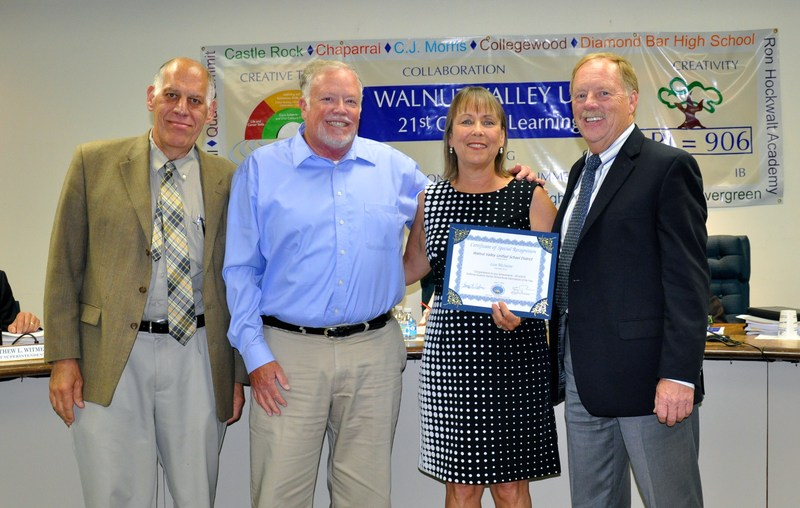 Walnut Valley Board Honors School Nurse