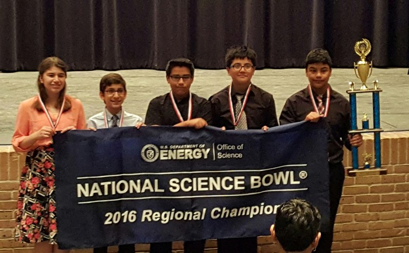 MJH Science Bowl team qualifies for National Science Bowl