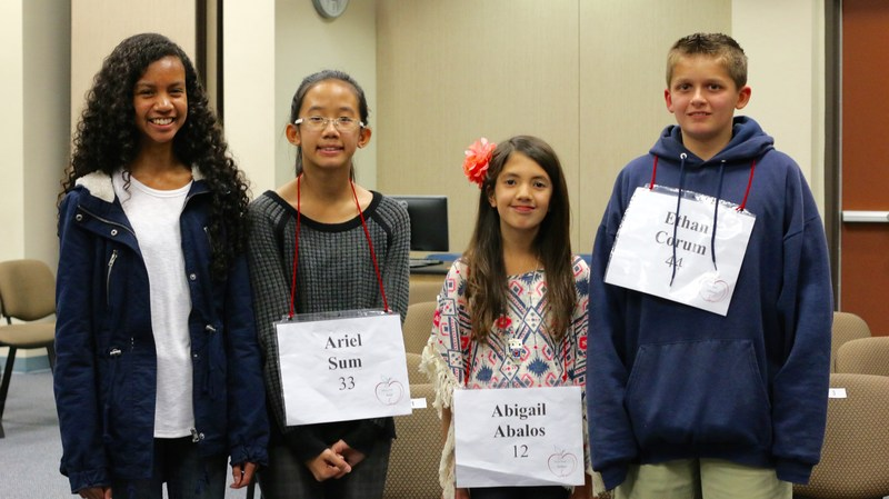 HUSD Announces its Four District Spelling Bee Winners