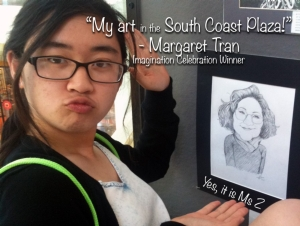 Margaret Tran's Caricature of Ms. Z is chosen for the Imagination Celebration.