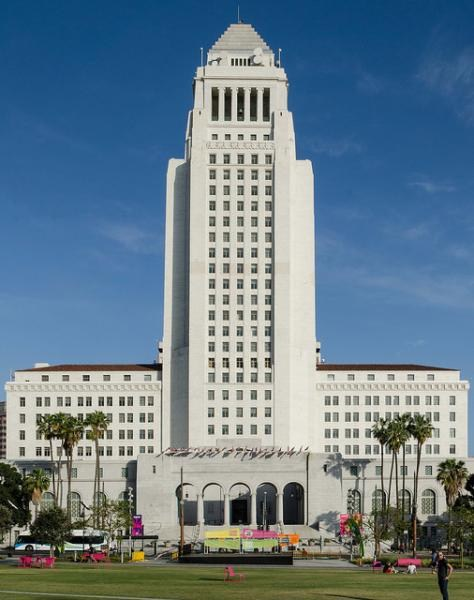 Neuwirth hosts first JSA Conference at LA City Hall.