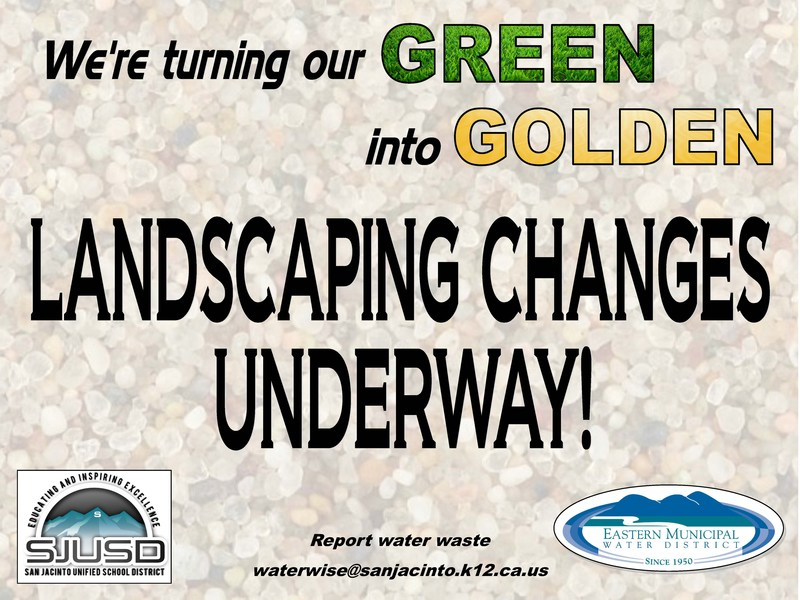 SJUSD Landscaping Increasing in the Golden Hue