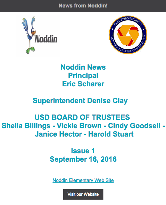 Noddin's First Newsletter Click Here Thumbnail Image