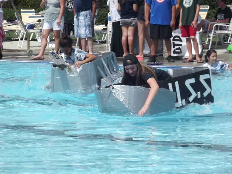 Western Center Academy's Cardboard Boat Racing