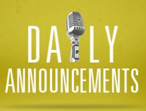 May Daily Announcements (Click HERE!)