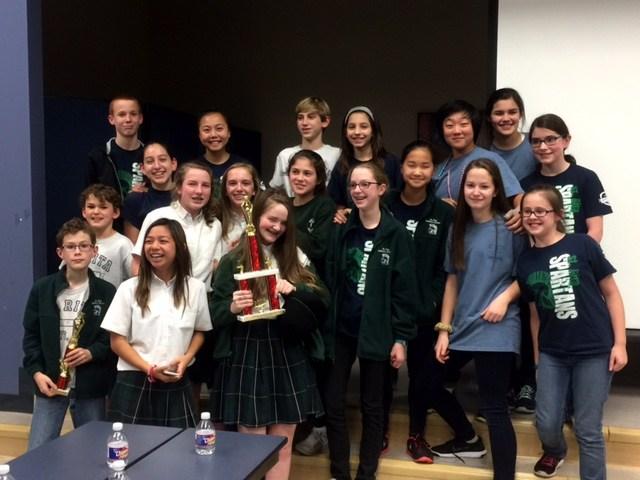 Math Team Wins 1st Place