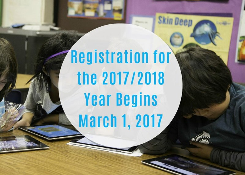 Registration for the 2017/2018 School Year Begins March 1, 2017. Thumbnail Image