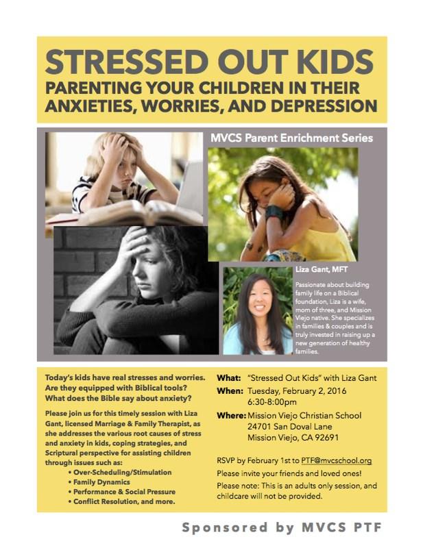 Parent Enrichment: Stressed Out Kids