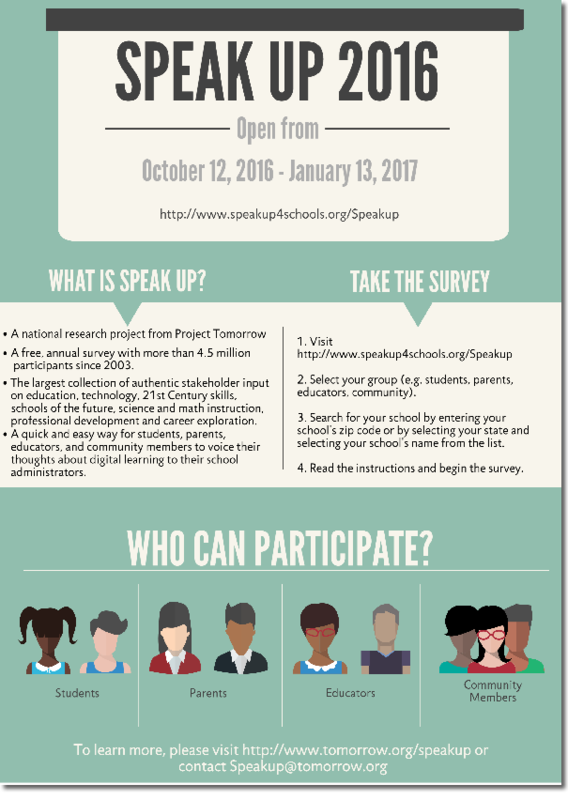 2016 Speak Up Survey Thumbnail Image