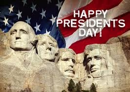 President's Day is Monday, February 15th!