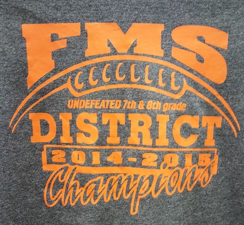 Congratulations 8th Grade A Football Team