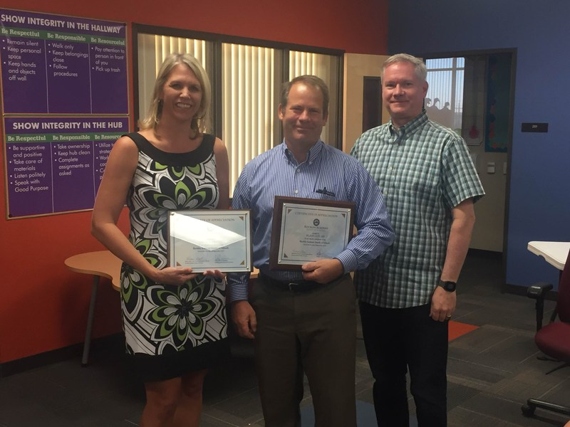 Blair Gould and Office Depot recognized for service to Rocklin Academy