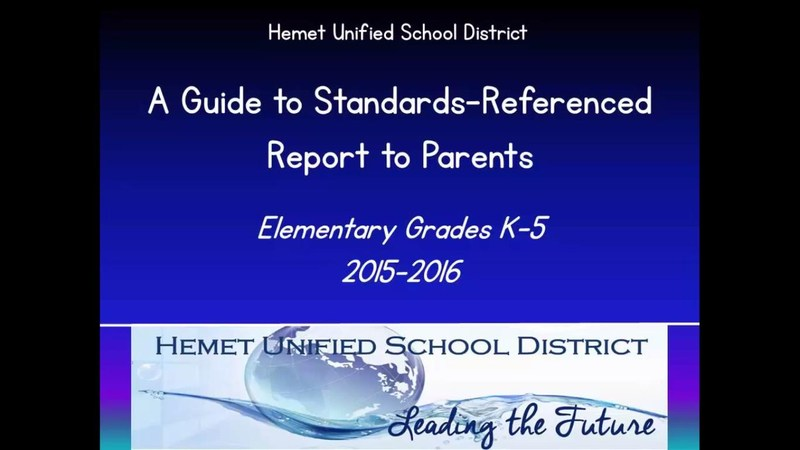 Parent's Guide for Student Report Cards