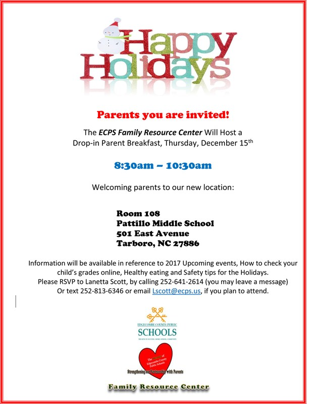 ECPS Family Resource Center to host Parent Breakfast Thumbnail Image