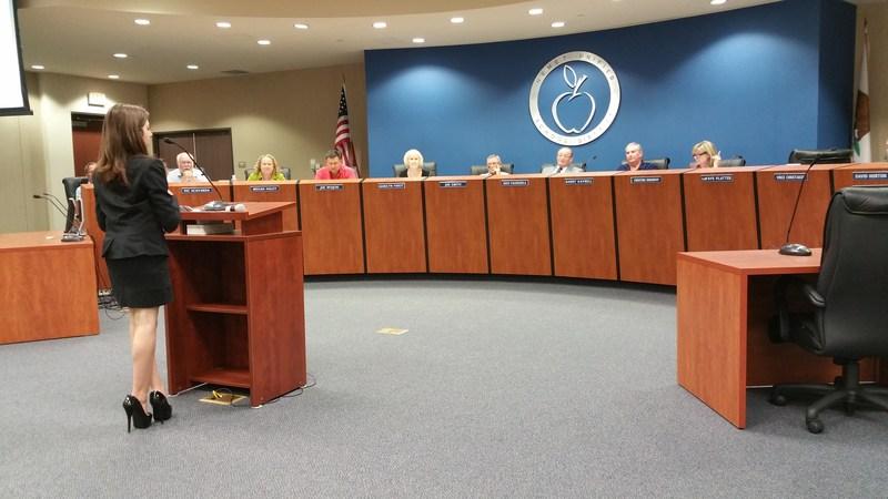 Governing Board Downloads Hemet Unified School District's Application