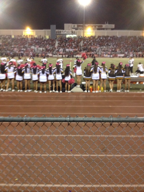 JV and Varsity Cheerleaders supporting our team at the Banning Homecoming.