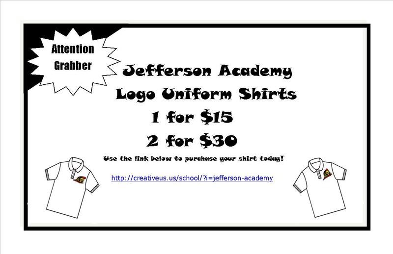Purchase your JA Logo Uniform Shirt Today!