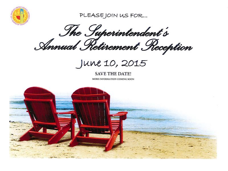 Superintendent's Annual Retirement Reception - June 10, 2015