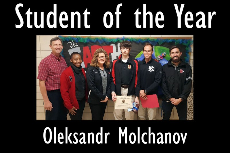Oleksandr Molchanov named 2016-2017 BCHS and Plaquemines Parish 12th Grade Student of The Year Thumbnail Image