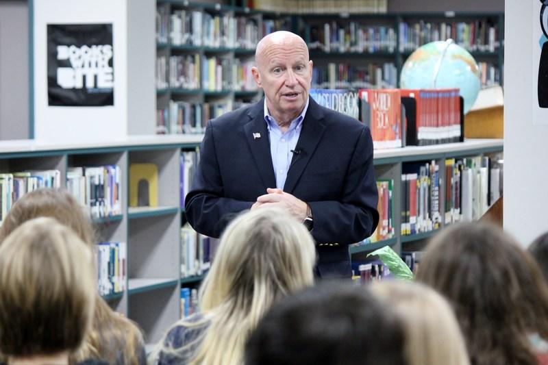 Willis High Students Learn from Congressman Brady