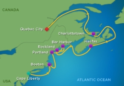 12-NIGHT CRUISE TO NEW ENGLAND & CANADA - October 7 - 19, 2015