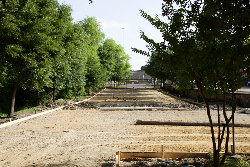 New Parking Lot at Oak Cliff Faith Family Academy