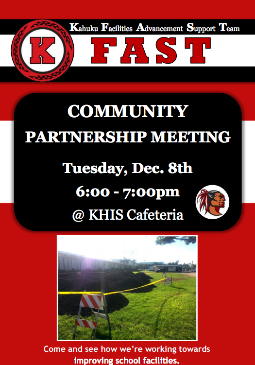 Kahuku FAST (Facilities Advancement Support Team) Community Partnership Meeting