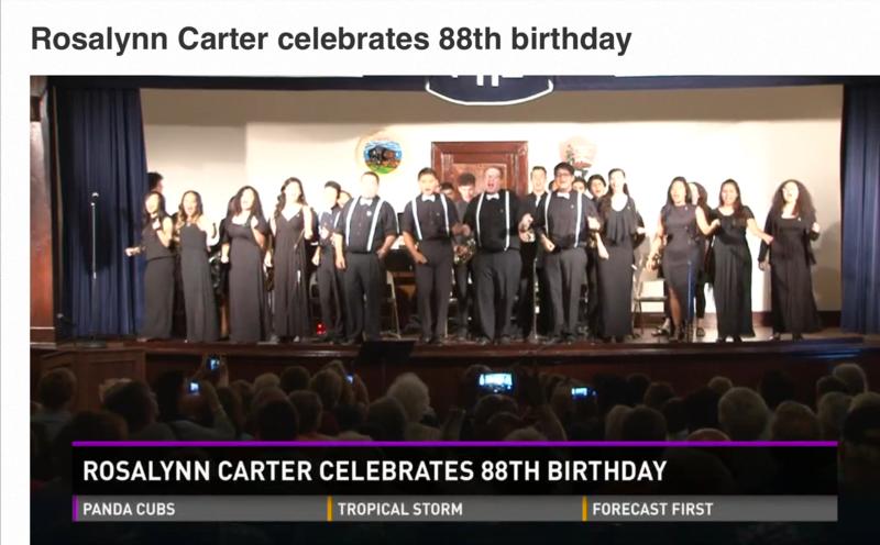 Valiants Celebrate Mrs. Carter's Birthday