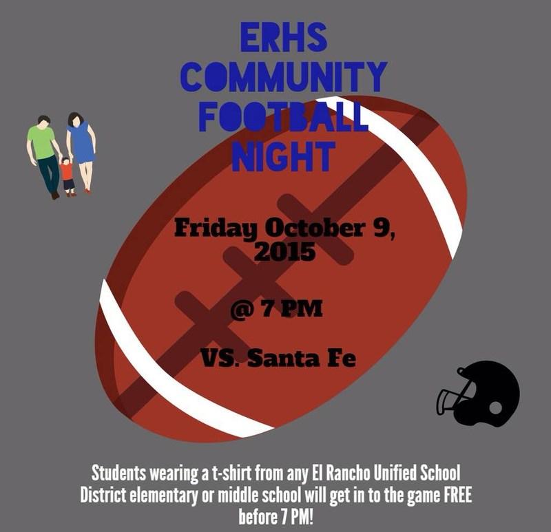 El Rancho High School Community Football Night