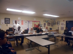JROTC Cadets Inspection by the LAUSD JROTC Headquartres