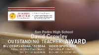 LAUSD Educator Wins National Teacher Award