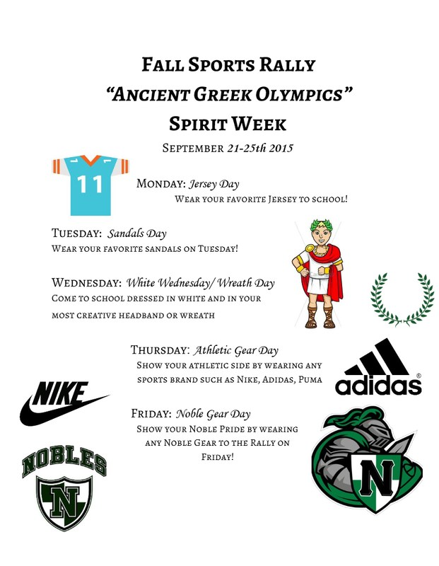 "Spirit Week - Theme: ""Ancient Greek Olympics"""
