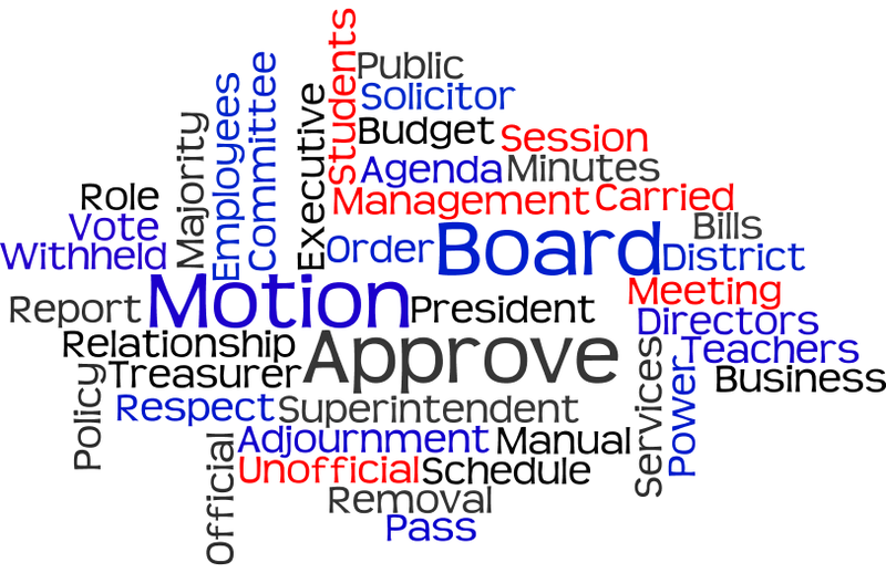 School Board Meeting on Tuesday, December 1, 2015 at 6:30 pm