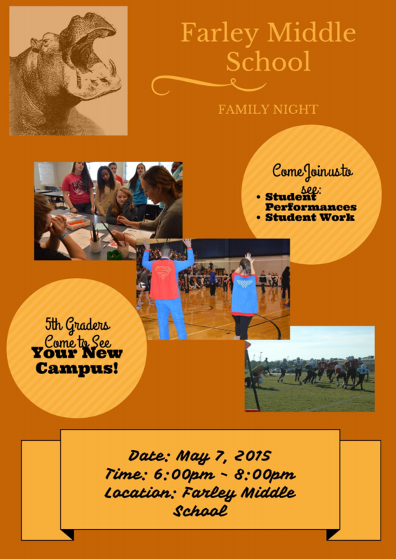 Farley Middle School Family Night - May 7th