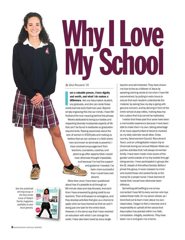 Why I Love My School by Gina Passanisi '15