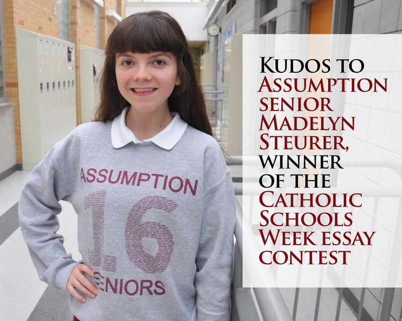 Madelyn Steurer '16 Wins Catholic Schools Week Essay Contest