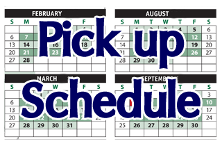 Make-Up Schedule Pick Up Wednesday 8/19/15