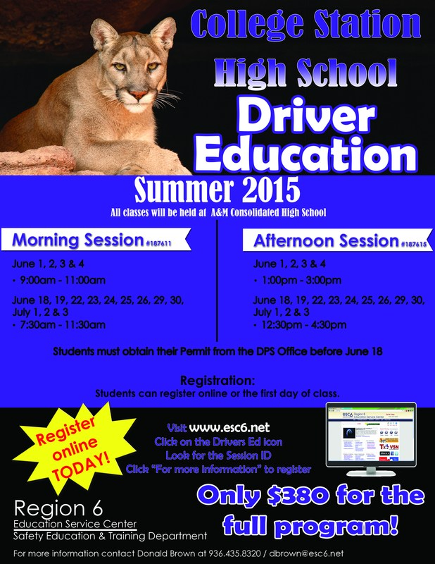Driver Education Information