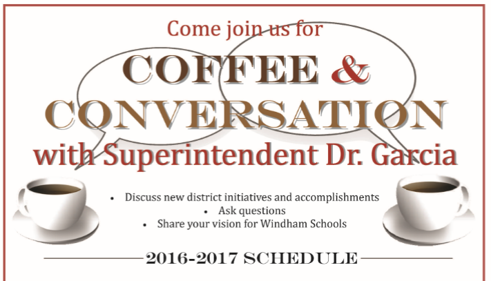 2016-2017 Coffee with the Superintendent Schedule Announced Thumbnail Image