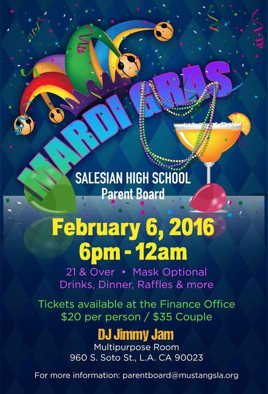 Mardi Gras Parent Dance - February 6: 6pm-12am