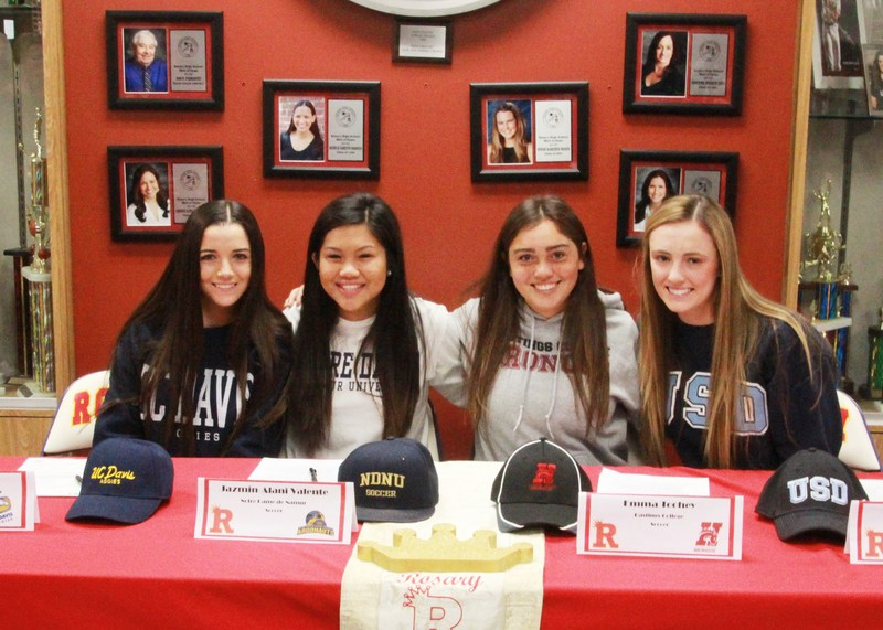 Signing Day at Rosary Academy
