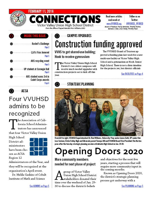 Check out the latest edition of the VVUHSD newsletter (2-11-16)