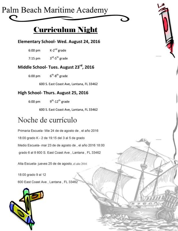 Meet the Teachers and Curriculum Night Thumbnail Image