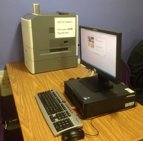MyPay Workstation set up in S4 Lab