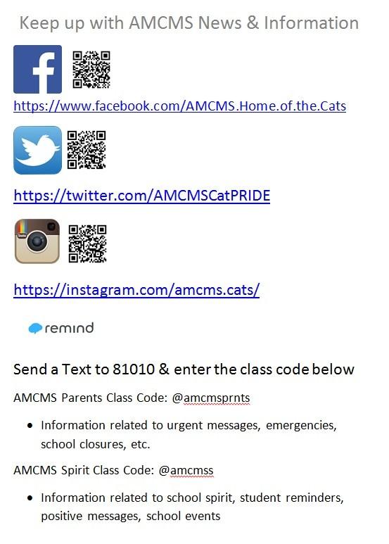 #AMCMS-- Follow Us!